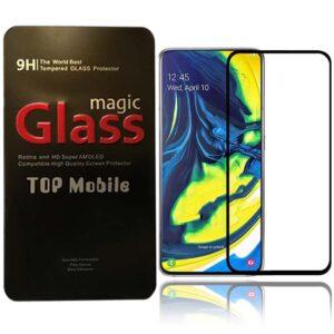 محافظ شیشه ای نمایشگر پوشش منحنی سامسونگ Magic 9D Glass | Galaxy A80