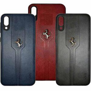 قاب لاکچری چرم فراری سامسونگ Soft PU Leather Ferrari Case | Galaxy M10