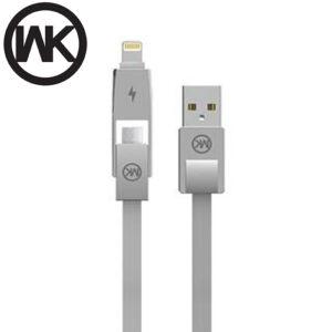 کابل سریع دبلیو کی WK Lightning & Micro USB Data & Fast charge Cable | WDC-014