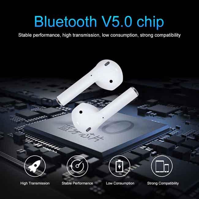 هندزفری بی سیم مدل ایرپاد Mini Bluetooth 3D Bass TWS Earphone   i12