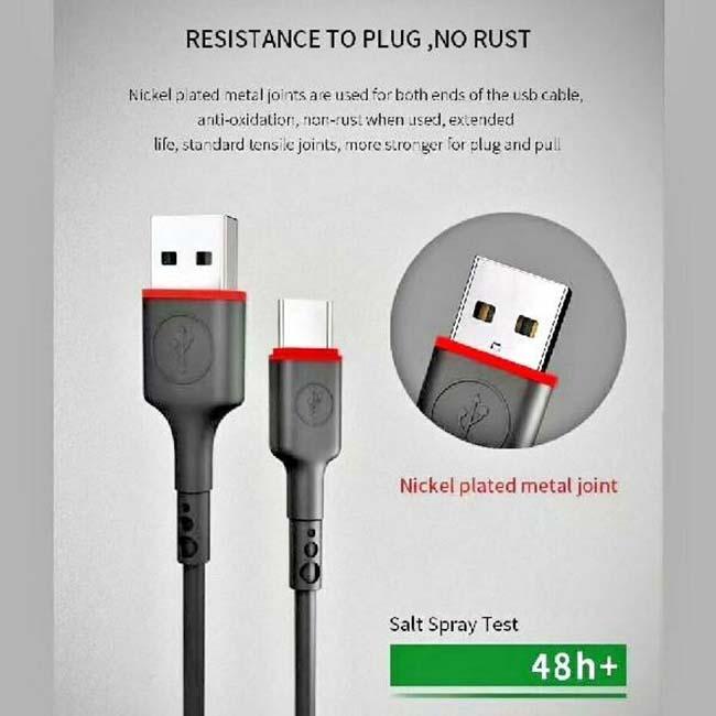 کابل شارژ میکرو یو اس بی آککیو Akekio Nickel Plated Stable Transition Cable
