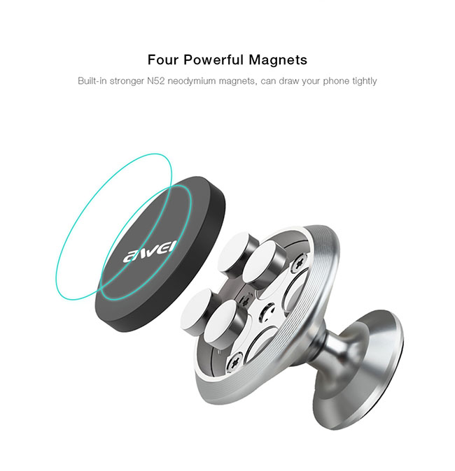 پایه نگهدارنده گوشی Awei Adhesive Type Magnetic Car Holder   X6