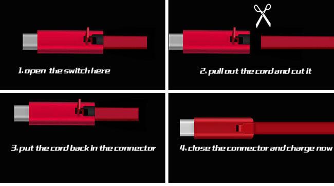 کابل قیچی شونده Biboshi Recover Cuttable Fast Charge Cable | CA1001