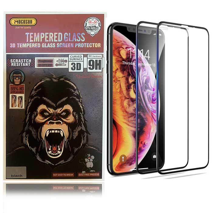محافظ صفحه وضوح 99% نمایشگر اپل Mocoson 9D Curved Glass | iphone X | XS