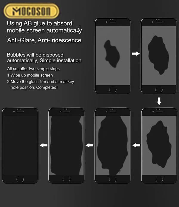 شاشة التوقف 99٪ Apple Mocoson 9D Curved Glass |  اي فون |  XS ماكس