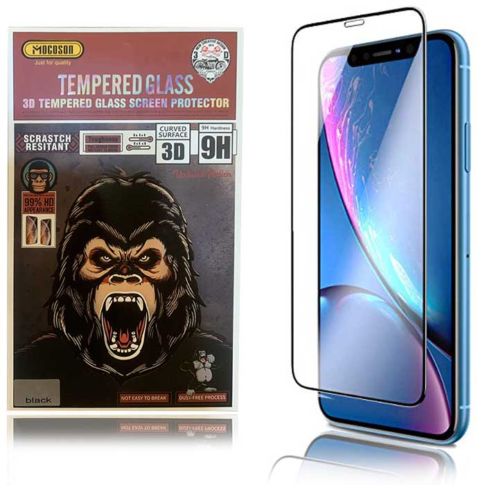 محافظ صفحه وضوح 99% نمایشگر اپل Mocoson HD Appearance Glass | iphone XR