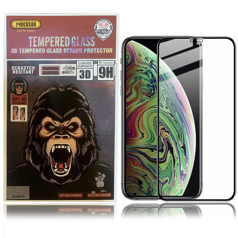 محافظ صفحه وضوح 99% نمایشگر اپل Mocoson 9D Curved Glass | iphone XS Max