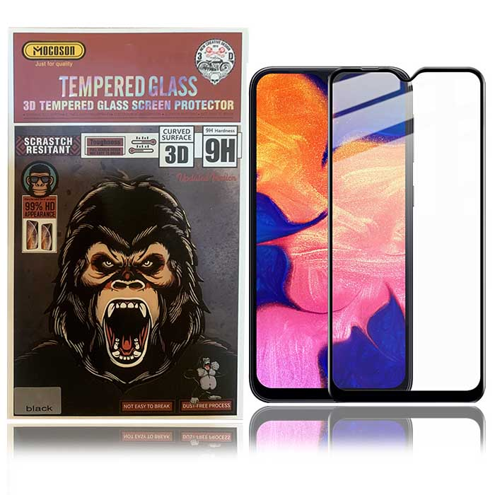 محافظ صفحه وضوح 99% نمایشگر سامسونگ Mocoson Full Glue Glass | Galaxy A10