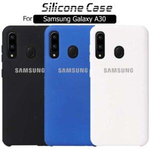 قاب اوریجینال سیلیکونی سامسونگ Slim Liquid Silicone Cover | Galaxy A30