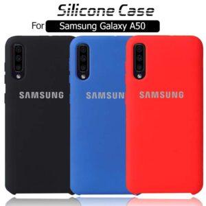 قاب اصلی سیلیکونی سامسونگ Soft Silicone Cover | Galaxy A50