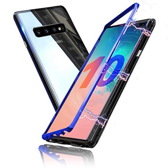 قاب دو تیکه مغناطیسی سامسونگ Magnetic Auto-Fit Glass Case | Galaxy S10