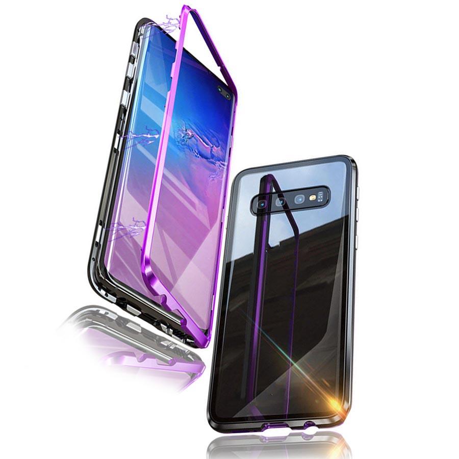 قاب دو تیکه مگنتی سامسونگ Magnetic Glass Case | Galaxy S10 Plus