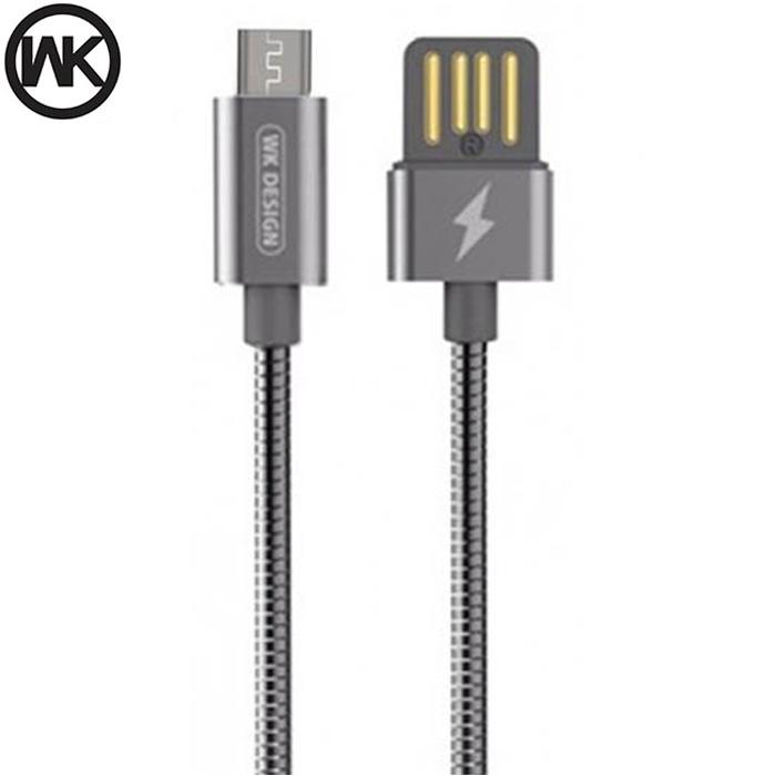 کابل انتقال اطلاعات و شارژ دبلیو کی WK Alloy Steel Wire Fast Micro USB Cable | WDC-039