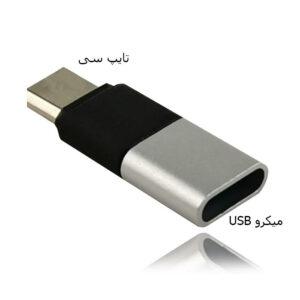 تبدیل میکرو یو اس بی به تایپ سی Flexible Metal Micro USB To Type-C Conversion | CQ-13