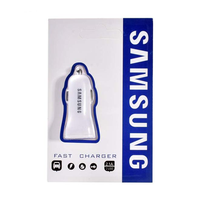 شارژر فندکی سامسونگ Samsung Dual USB Rapid Car Charger | KA31