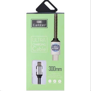کابل شارژ کوتاه ارلدام Earldom Type-C 300mm Ultra Charging Cable | EC-013c
