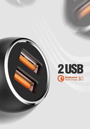 شارژر فندکی سریع الدینیو LDNIO Lamp Ring QC3.0 Car Charger   C503Q