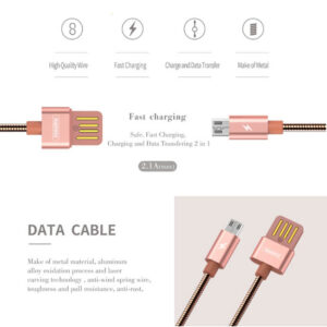 کابل شارژ سریع Remax Micro USB Aluminum fast & Safe Transfer Cable   RC-080m