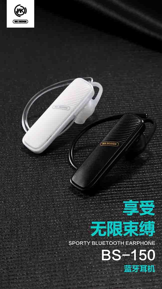 هندزفر تک گوش دبلیو کی WK Design Sport Bluetooth V4.1 Earphone | BS-150