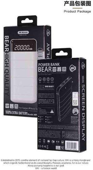 پاور بانک دبلیو کی WK Design 20000mAh Bear Power Bank   WP-026
