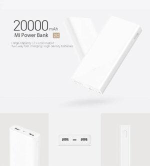 پاور بانک اورجینال شیائومی Xiaomi 20000mAh QC3.0 Power Bank   PLM06ZM