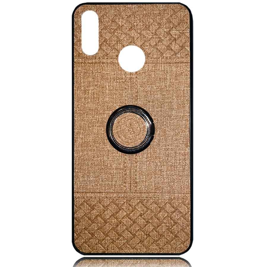 قاب طرح پارچه آنر Soft Cloth Pattern Finger-Ring Cover Honor 10 Lite   P Smart 2019