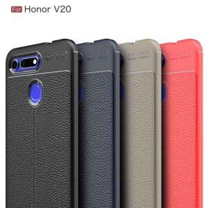 قاب طرح چرمی آنر Auto Focus Texture Case Honor View 20 | Honor V20