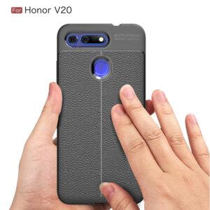 قاب طرح چرمی آنر Auto Focus Texture Case Honor View 20   Honor V20