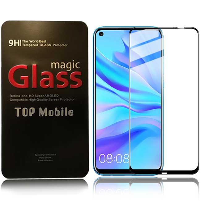 buy price huawei p20 lite 2019 nova 5i 9d full glue tempered full screen glass گلس گوشی