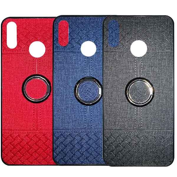 قاب طرح پارچه هواوی Soft Cloth Pattern Finger-Ring Case Nova 4e | P30 Lite