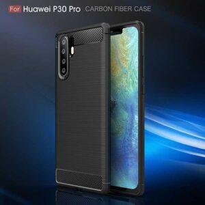 قاب فیبر کربن هواوی Rugged Armor Carbon Fiber ShockProof Case   P30 Pro