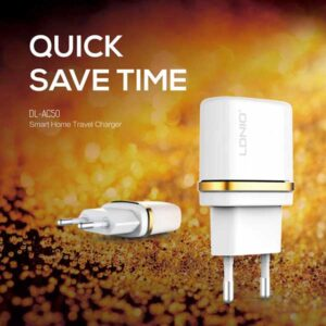 شارژر دیواری تک پورت الدینیو LDNIO 1 USB Travel Charger Adapter   DL-AC50