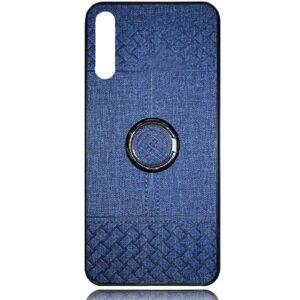 قاب طرح پارچه سامسونگ Soft Cloth Pattern Finger-Ring Case | Galaxy A50