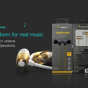 هندزفری سیمی سوپر استریو YESIDO Piston Design Earphone   YH-02
