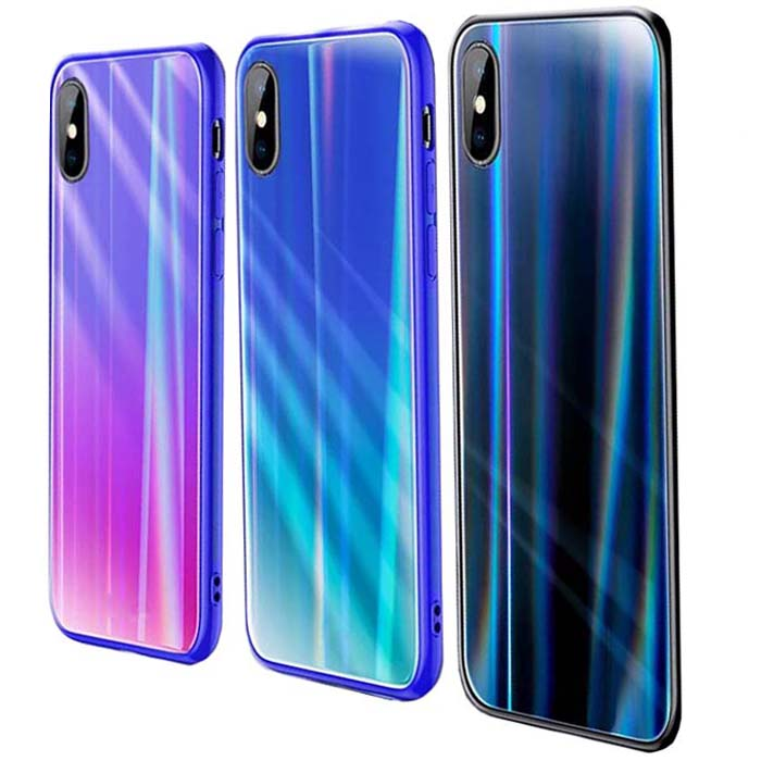 قاب لیزری آیفون Baseus Luxury Glossy Laser Aurora Case | iphone XS Max