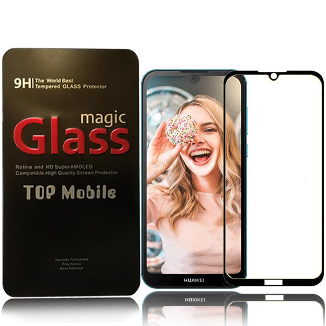 محافظ تمام چسب هواوی Magic Full Glass Y5 2019 | Y5 Prime 2019 | Honor 8S
