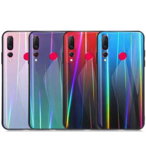 قاب لیزری هواوی Baseus Laser Aurora Gradient Glass Case | Nova 4