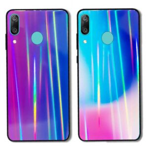 قاب لیزری هواوی Baseus Tempered Glass Aurora Laser Case | Huawei Y9 2019
