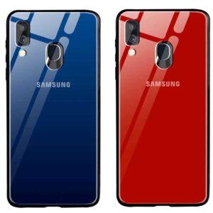 قاب براق پشت گلس سامسونگ Shine Tempered Glass Case | Galaxy A40