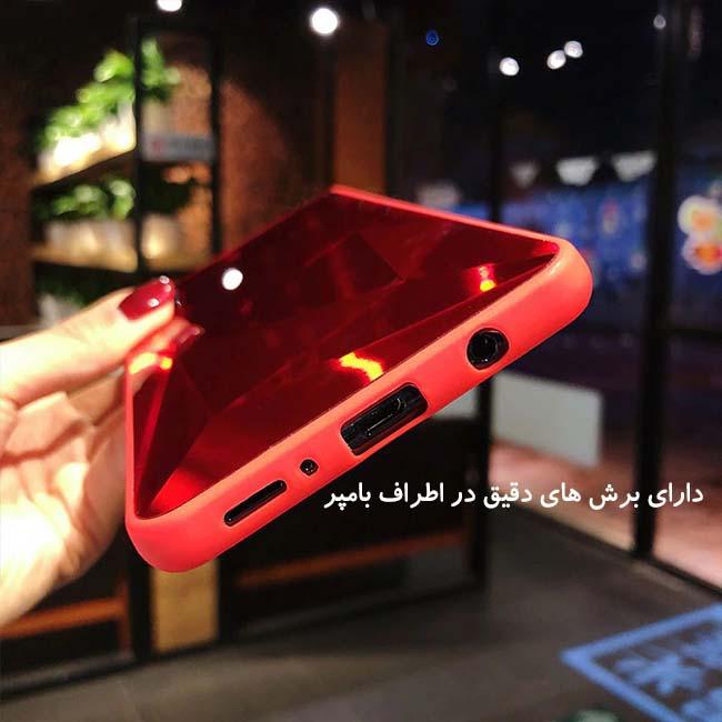 قاب الماسی پشت گلس سامسونگ Luxury Diamond Glass Case | Galaxy A50