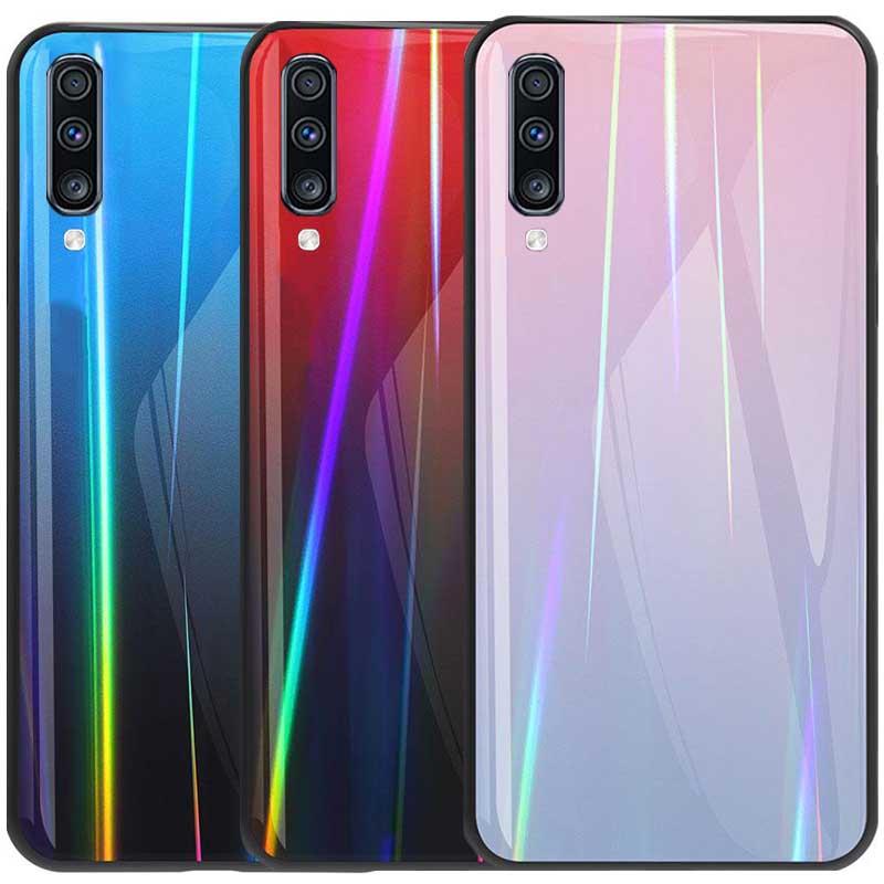 قاب لیزری سامسونگ Baseus Laser Aurora Gradient Glass Case | Galaxy A70