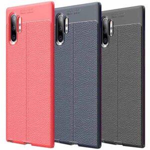 قاب طرح چرم سامسونگ Auto Focus Texture Case | Galaxy Note 10 Plus