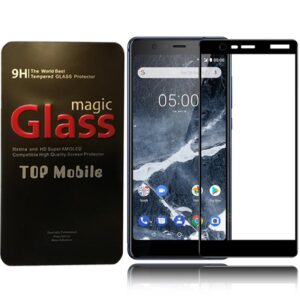 محافظ تمام چسب پوشش منحنی نوکیا Magic 9D Full Glass | Nokia 5.1