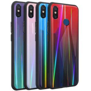 قاب لیزری شیائومی Baseus Luxury Glossy Laser Aurora Case | Xiaomi Mi 8
