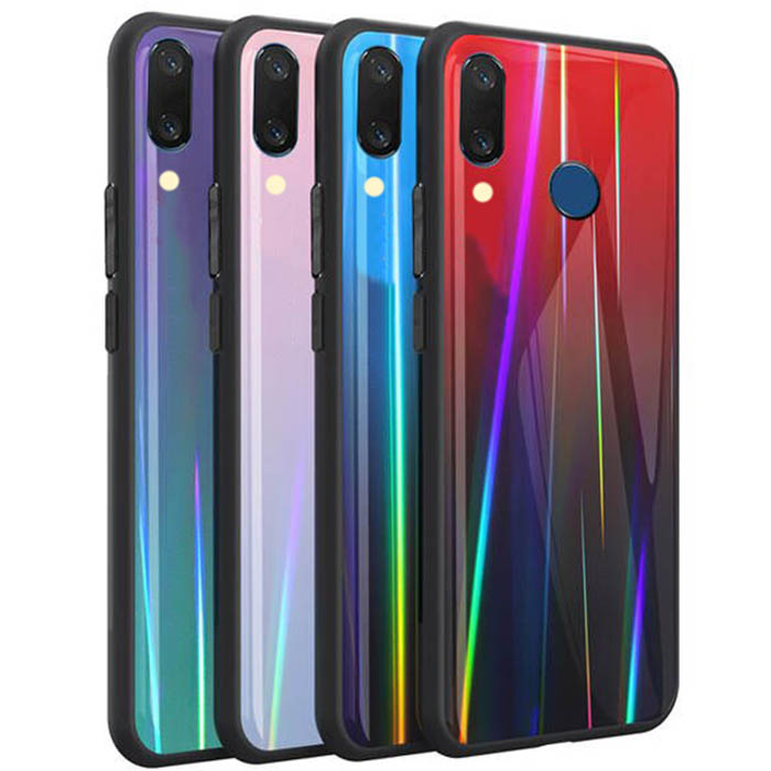 قاب لیزری شیائومی Baseus Laser Aurora Gradient Glass Case Redmi Y3 | Redmi 7