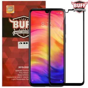 محافظ پوشش کامل بوف شیائومی BUFF Formulated Full 9D Glass | Redmi Note 7