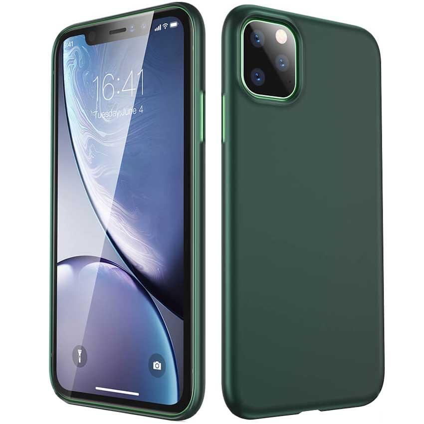 قاب ژله ای ایفون Ultra Slim Anti-FingerPrint Silicone TPU Cover | iphone 11 Pro