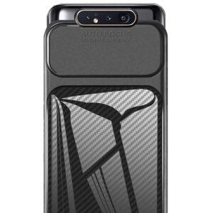 قاب فیبر کربن سامسونگ گلکسی Auto Focus Soft Carbon Fiber Cover | Galaxy A80