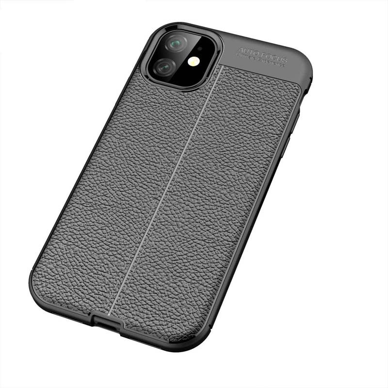 قاب اتو فوکوس اپل Leather pattern Auto Focus Case | iPhone 11