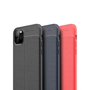 قاب اتو فوکوس آیفون Auto Focus Flexible Leather pattern Case iPhone | 11 Pro Max
